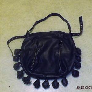 Cynthia Rowley Leather shoulder bag w/ tassles